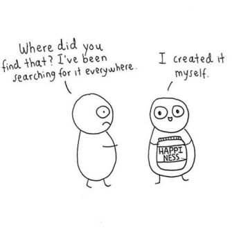 Happiness Created Myself