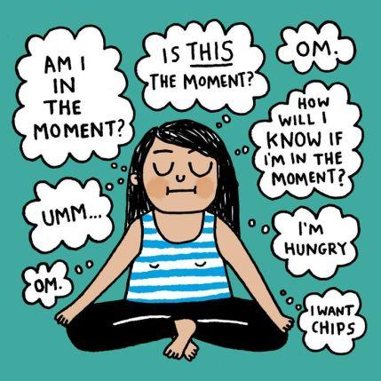 Meditation cartoon